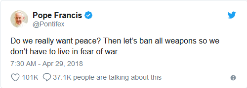 Screenshot-2018-5-1 Pope Francis Ban All Weapons