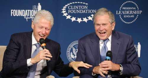 Bush-clinton BFF