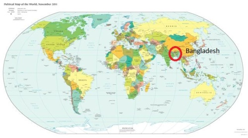 Bangladesh on world map