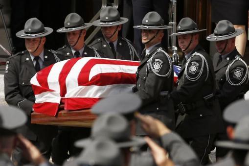 PSP Funeral Color Guard