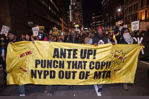 Punch that cop