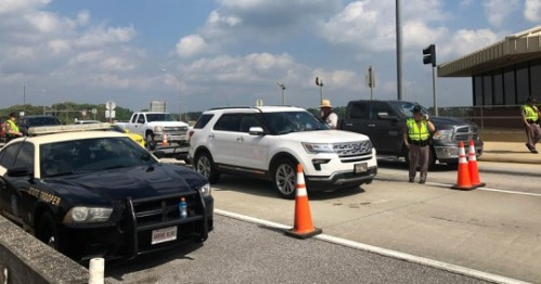 FHP Sets Up Checkpoint On I-10 To Enforce State COVID-19 Travel Restrictions