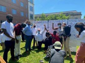 U.S. Sen. Bob Casey, D-Pa. misappropriating culture displays the black power symbol in solidarity