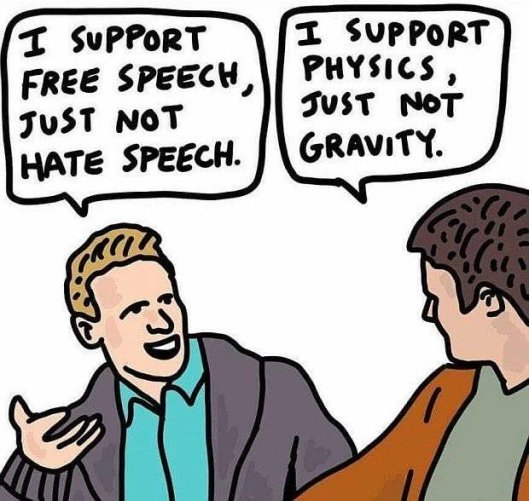 I support free speech